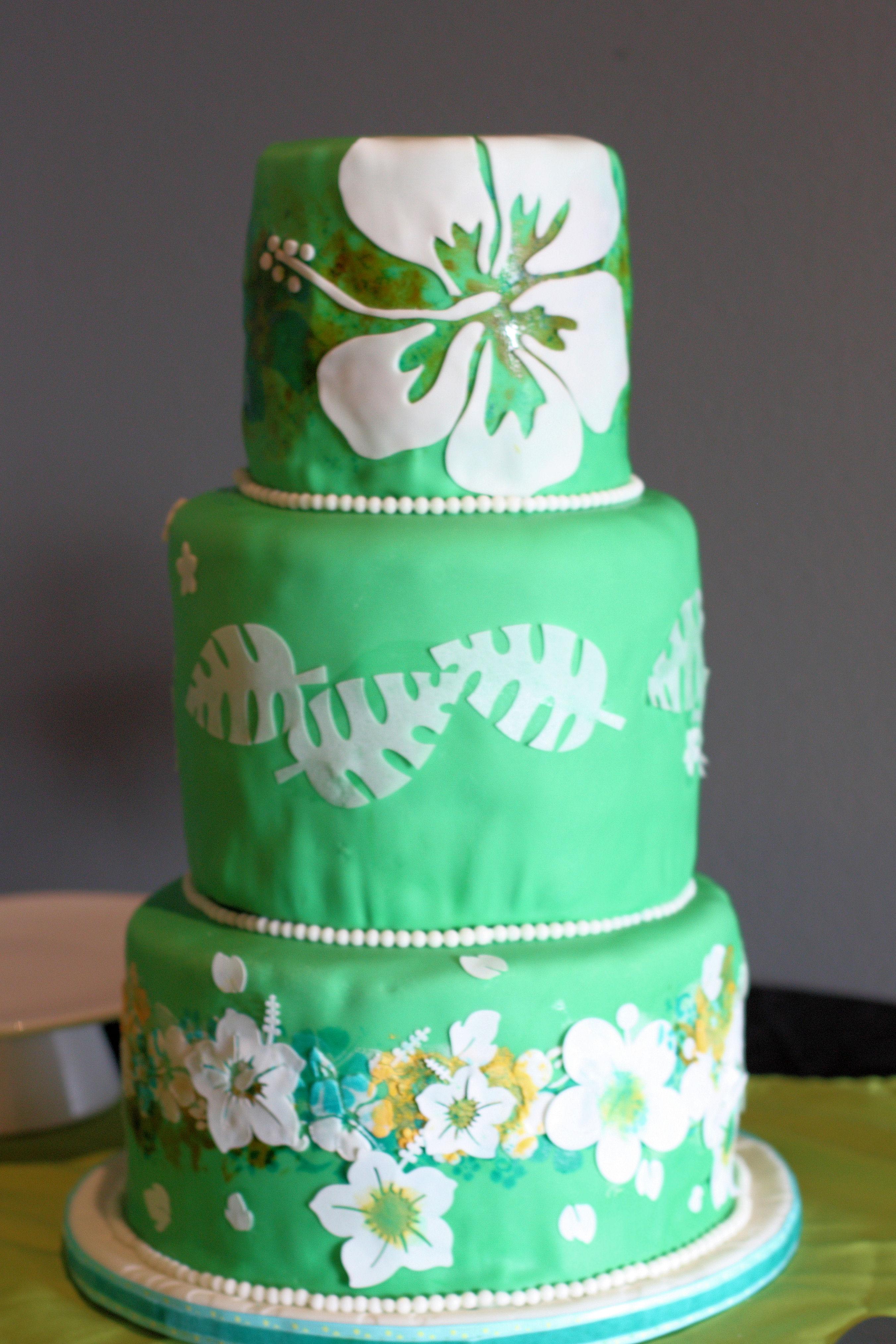 Hawaiian Theme Wedding Cup Cakes For Hawaiian Wedding